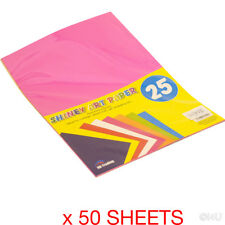 50 SHEETS A4 SHINY ART PAPER CRAFT GIFT WRAPPING COLLAGE THIN CARD