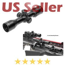 """UTG 1"""" BugBuster 3-12X32 Scope Side AO Mil-Dot QD Picatinny Rings Lens Caps"""
