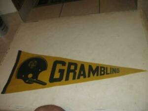 1960s EARLY VINTAGE GRAMBLING STATE TIGERS FOOTBALL TEAM PENNANT