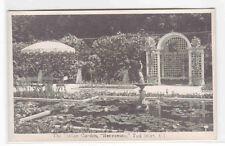 Benvenuto Italian Garden Tod Inlet Vancouver Island BC Canada RPPC #2 postcard