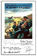 BRITISH COMEDY - WHISKY GALORE - CAST SIGNED (PRE PRINTED) A4 POSTER