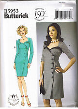 Easy Vintage 50s Retro Wrap Dress Sewing Patterns by Gertie Size 6 8 10 12 14