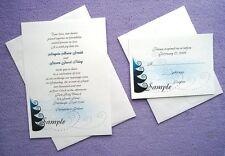 100 Personalized Custom Holiday Winter Snow Bridal Wedding Invitations Set