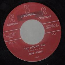 Hear! Early Country 45 Max Miller The Losing End sur Grc