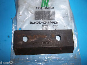 NEW MTD / SEARS CHIPPER SHREDDER KNIFE  981-0490 OEM FREE SHIPPING