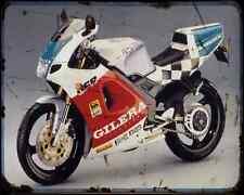 Gilera Gfr125Sp A4 Metal Sign Motorbike Vintage Aged