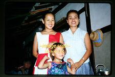 1964 Korean Women & Girl at Party in Korea, Original Kodachrome Slide b14a