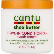 [CANTU] SHEA BUTTER LEAVE IN CONDITIONING REPAIR CREAM FOR DAMAGED HAIR 16OZ