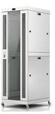 "Sysracks 32U 35"" Deep Light Grey Server IT Network Data Rack Cabinet Enclosure"