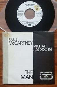 "SPAIN Paul McCartney Michael Jackson The Man single sided promo 1983 7"" vinyl 45"