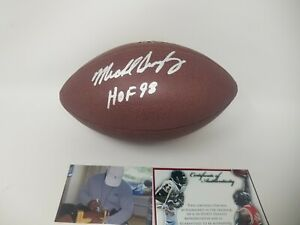 Mike Singletary Autographed  SIGNED Football CHICAGO BEARS W/ Proof HOF 98 Auto