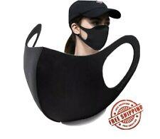 2PCS Fashion Mask Washable FACE MASK Breathable USA SELLER In-Stock Black