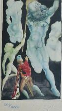 """SALVADOR DALI CELLINI """"Sculptures"""" HAND NUMBERED SIGNED ETCHING"""