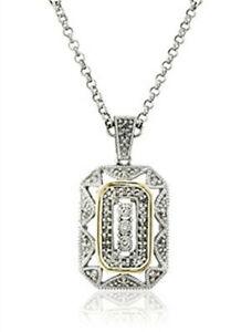 Women'S Popular Jewelry White Zircon Silver Yellow Pendant Necklace New