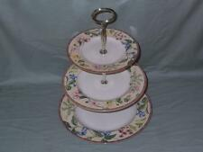Johnson Brothers Franciscan Spring Medley 3-Tier Hostess China Cake Plate Stand