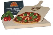 2,5cm Pimotti Pizzastein Brotbackstein aus Schamott+Schaufel +Anleitung &Rezepte
