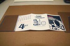 1978-79 Boston Celtic Basketball Schedule Lowenbrau Beer