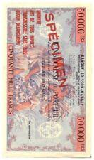 BON de CAISSE au PORTEUR . SPECIMEN 50.000 Frs. BANQUE SOISSON-MAUGEY .1953 .