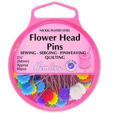 Hemline 60 x 54mm nickel fleur tête plate épingles couture quilting sewing