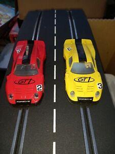 SCALEXTRIC / HORNBY CAR PORSCHE 911 GT1 LE MANS X 2 1/32 SCALE  C2422 C2421