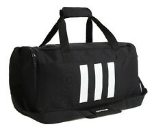 Adidas Unisex 3-Stripe Small Duffel Bags Black Casual Shoulder Bag Sacks GE1237