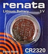 CR2320 RENATA WATCH BATTERIES 2320 (1 piece) New packaging Authorized Seller