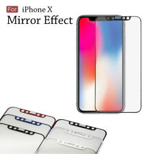 Mirror Electroplating Tempered Glass Screen Protector For iPhone 11 Pro / X / XS