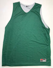 Vintage Nike Embroidered Swoosh Men Xxl Green White Reversible Jersey Basketball