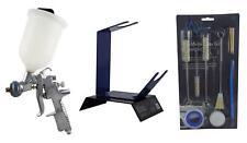 Anest Iwata AZ3 HTE2 1.3mm Gravity Spray Gun + Cleaning Kit & Bench Gun Stand