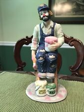 "Emmett Kelly Jr. Figurine ""Painter"" Professional Series by Flambro Circus Blues"