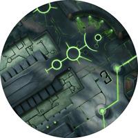 "Neoprene Objective Markers - 7.5"" Necron - Warhammer 40K"