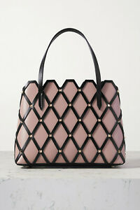 Valentino Garavani Beehive Small Studded Pink Leather Tote, New, Auth, Ori$2495!