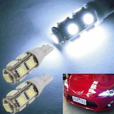 2X Bright White 9-SMD-5050 LED Bulbs For Car Parking Lights 168 194 2825 W5W CT0