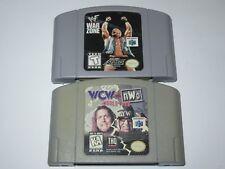 Nintendo 64 N64 Lot Of 2 Wrestling Based Games