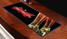 Fathers Day Grunge Union Jack Beer Label Design Bar Runner Great Gift Idea