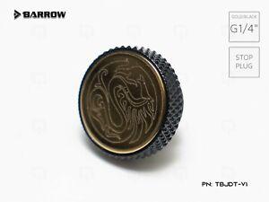 "Barrow TBJDT-V1 Dragon GOLD/BLACK G1 / 4 ""Hard Tubing Water PC G1/4 STOP PLUG"