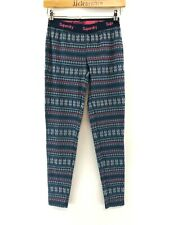 SUPERDRY Womens Tracksuit Bottoms Joggers XS Blue Pink Poly Cot Leggings Festive