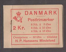 **Denmark Complete Booklet # H11, SC# 223dx2, 229b &238Al, CV $295.00 (Panes)