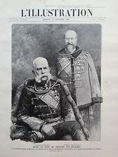 L' ILLUSTRATION 1908 N 3424 AVANT LE COUP DE THEATRE DES BALKANS: DEUX EMPEREURS
