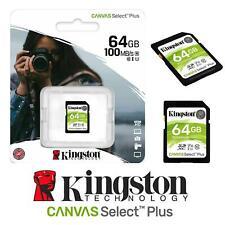 KINGSTON 100MB/s 64GB SD Card SDHC MEMORY CARD CLASS 10 4K Cameras Drone PC UK
