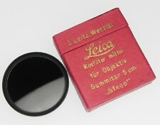 Leica GFEOO Black Rim Summitar Medium-Red Filter