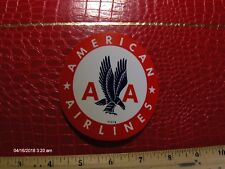 NOS American Airlines Vintage AA Eagle Graphic Advertising Luggage Sticker Decal