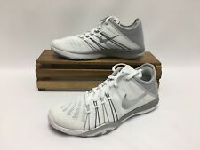 Nike Free TR 6 Running Shoes White Metallic Silver 833413-100 Women's Size 5 NEW