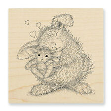HOUSE MOUSE RUBBER STAMPS BUNNY LUV HAPPY HOPPERS NEW wood STAMP