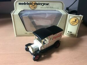 Matchbox Models Of Yesteryear - Y12 Ford T Van - Coca Cola - Tan Seat - I5