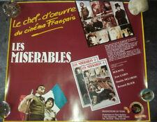 Affiche cinéma / vidéo - Les Misérables - productions du Tigre - TBE - 56 x62 cm