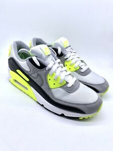 Nike Air Max 90 Recraft Grey Volt Lime Trainers Uk 9