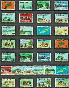 ANGUILLA 1967-69 Stamp COLLECTION Mint includ INDEPEND Issues to $5 REF:QV581a