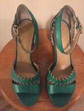 NEW Bruno Premi Emerald Green Ankle Strap Heels Size 10