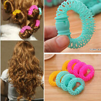 8 Pcs Hairdress Magic Bendy Hair Styling Roller Curler Spiral Curls DIY Tools~JG